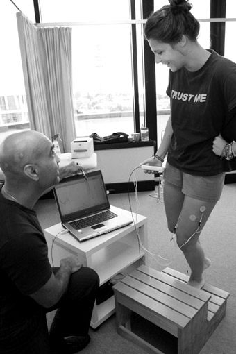 video analysis, EMG, real-time ultrasound