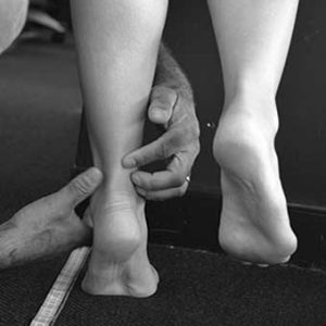 Physio ankle treatment